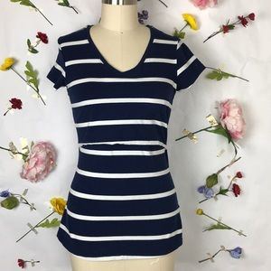 NWOT Momzelle striped breastfeeding tee